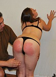 Caras first spanking and bruising bare bottom pain