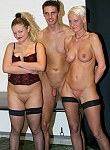German amateurs in gang bang orgy