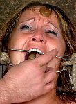 Gina bizarre humiliation and messy bondage slavery