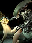 Sweet 3d babe having sex with alien