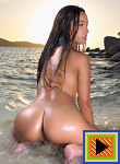 Miko Sinz On The Beach For In The Crack